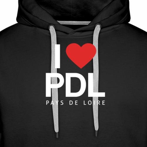 J'aime les Pays de Loire - Sweat-shirt à capuche Premium pour hommes
