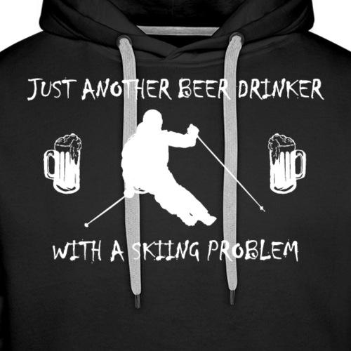 Beer Drinker Skiing Problem - Männer Premium Hoodie