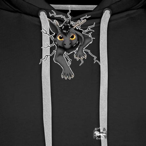 Drachi stuck grey weißlogo.png - Männer Premium Hoodie