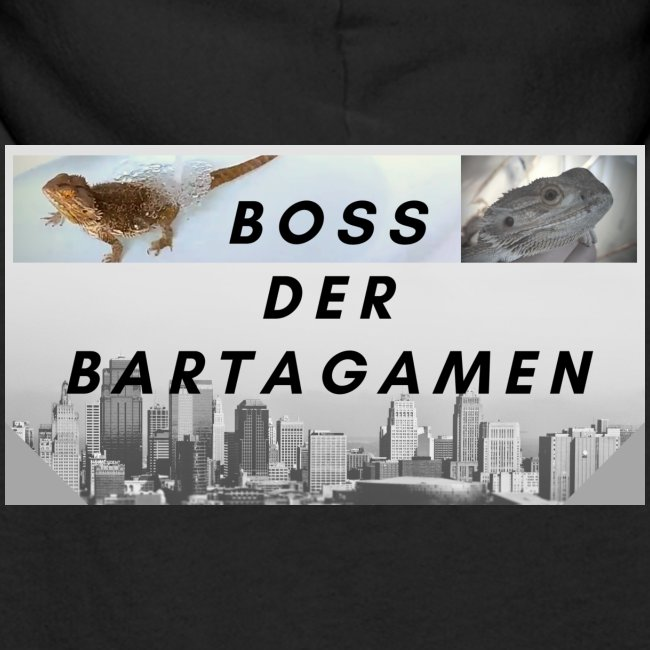 Boss der Bartagamen Hoodie Kollektion - beidseitig