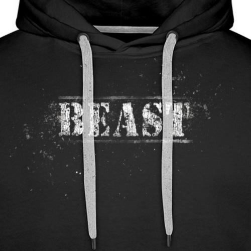 Beast Schriftart - Männer Premium Hoodie