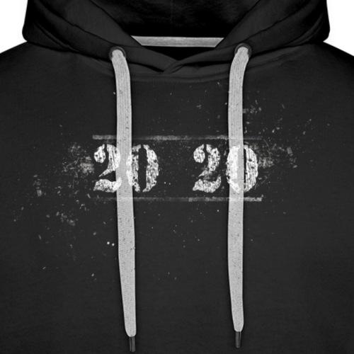 2020 Schrift - Männer Premium Hoodie