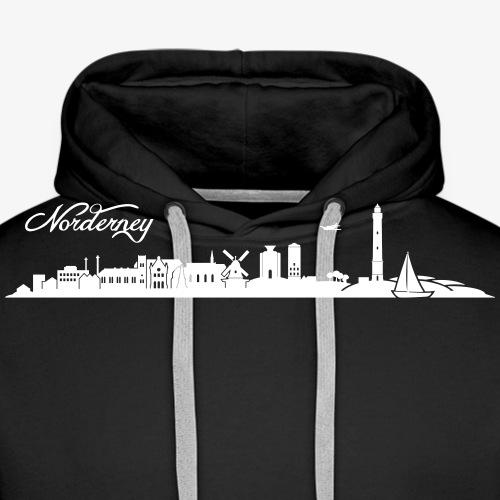 Norderneyer Skyline - Männer Premium Hoodie