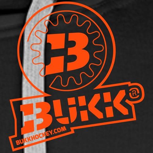 BUKK EMBL orange outline - Miesten premium-huppari