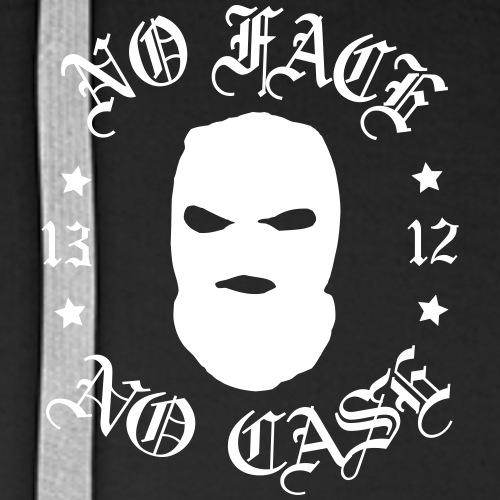 No Face, No Case - Skimask - pieni printti + selkä - Miesten premium-huppari
