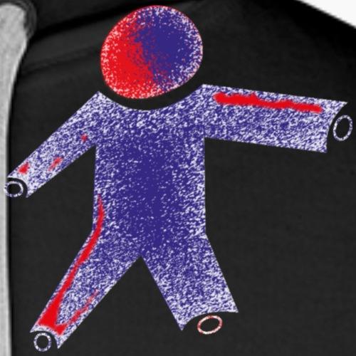 Logo und Slogan beidseitig - Männer Premium Hoodie