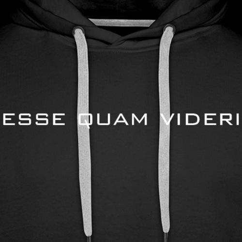 Esse Quam Videri - white - Men's Premium Hoodie