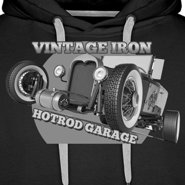 hotrod vintage grau