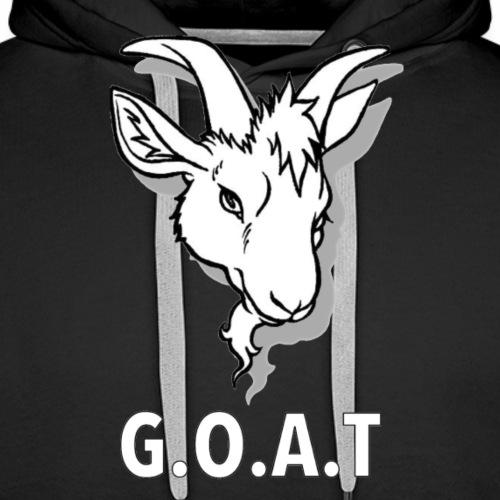 G.O.A.T, WHITE - Mannen Premium hoodie
