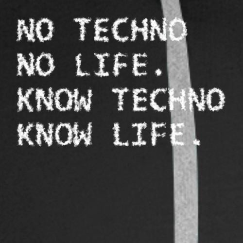 Know Techno scatter - Men's Premium Hoodie