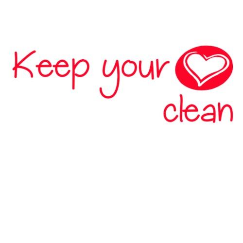 keep your heart clean - Sweat-shirt à capuche Premium pour hommes
