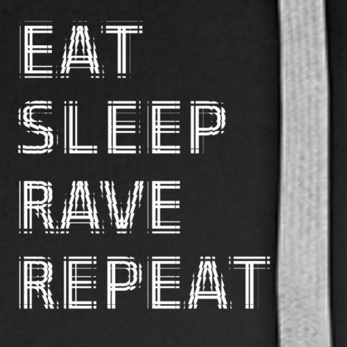 Eat Sleep Rave Repeat TILE - Men's Premium Hoodie
