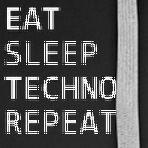 Ea tSleep TECHNO Repeat Tile - Men's Premium Hoodie