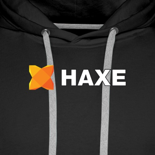 Haxe Logo - Logo and Brand in White - Sweat-shirt à capuche Premium pour hommes