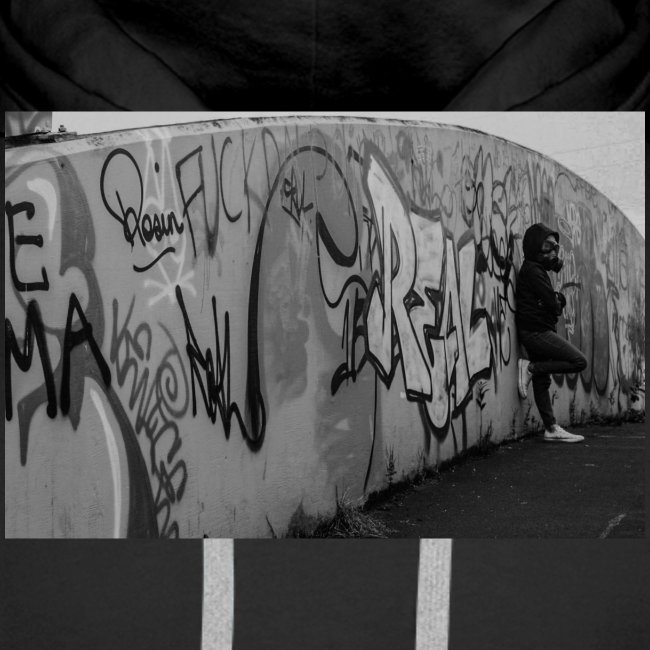 Real - Black and White graffiti bridge