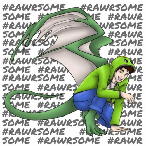 Rawrsome hell - Männer Premium Hoodie