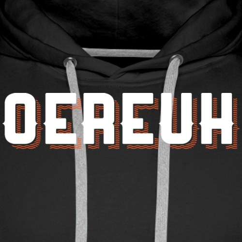 oereuh festival wit - Mannen Premium hoodie
