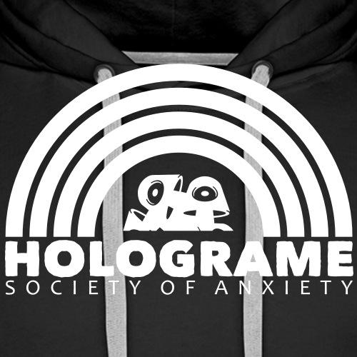holograme logos3 - Sweat-shirt à capuche Premium pour hommes