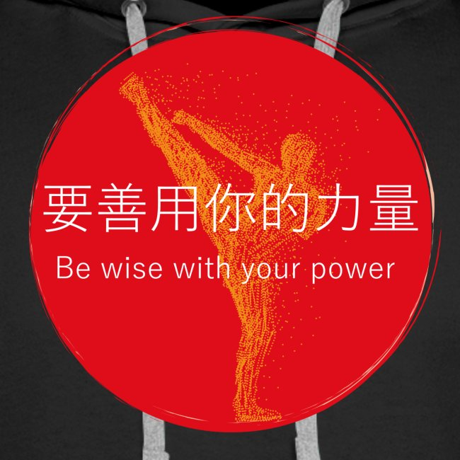 Be wise with your power Karate & Taekwondo Design