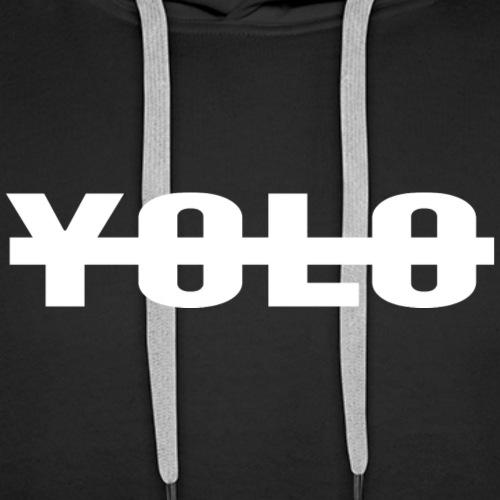 NO YOLO - Sweat-shirt à capuche Premium pour hommes