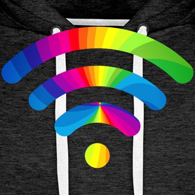 wifi signal rainbow