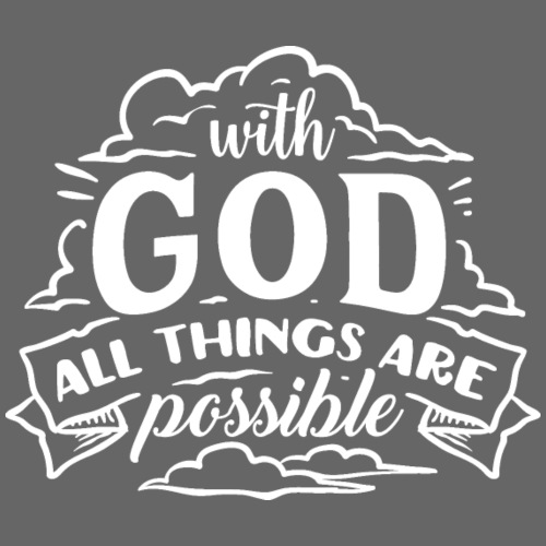 With God All Things Are Possible - Felpa con cappuccio premium da uomo