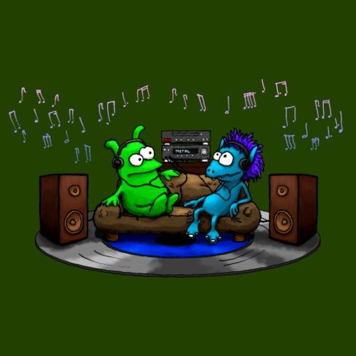 Wolfram Harald Music Lovers Stereo - Men's Premium Hoodie