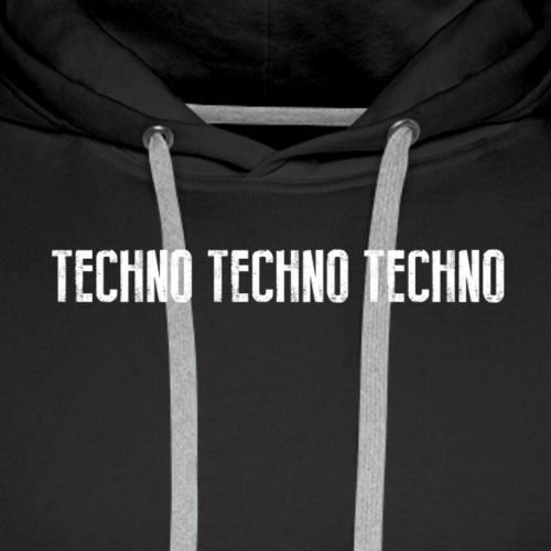 TECHNO TECHNO TECHNO - 2 SIDED - Men's Premium Hoodie