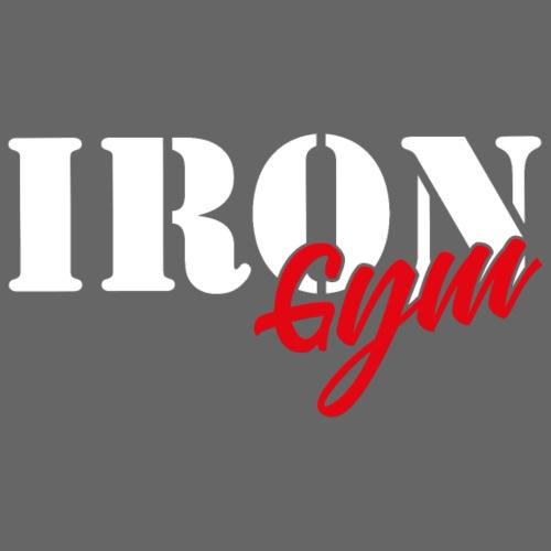 iron gym logo white - Sudadera con capucha premium para hombre