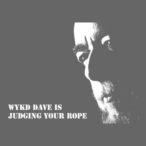 WykD Dave is judging your rope (light on dark)
