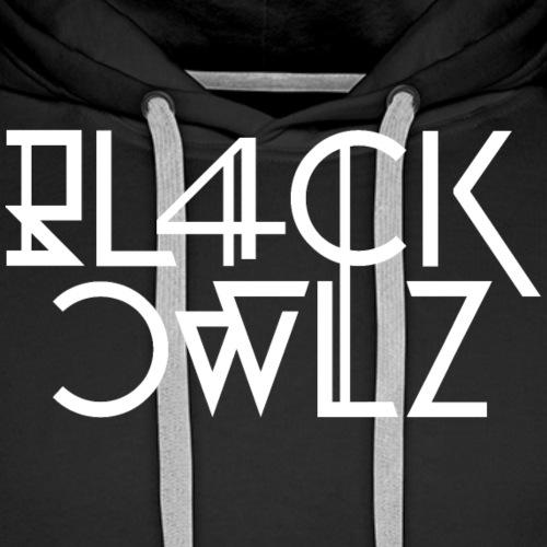 Bl4ck Owlz Typo - Sweat-shirt à capuche Premium pour hommes