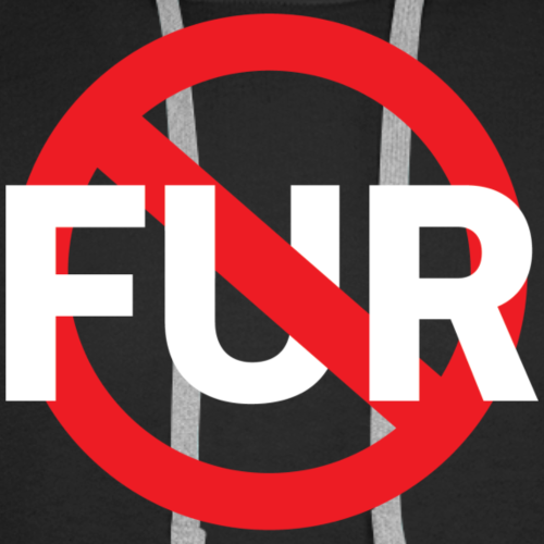 Fuck fur! White - Premiumluvtröja herr