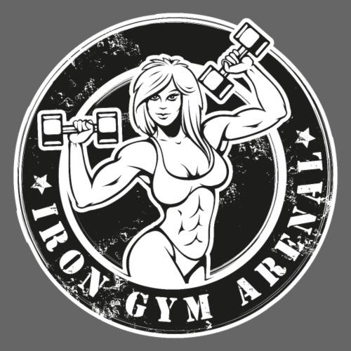 iron gym girl - Sudadera con capucha premium para hombre