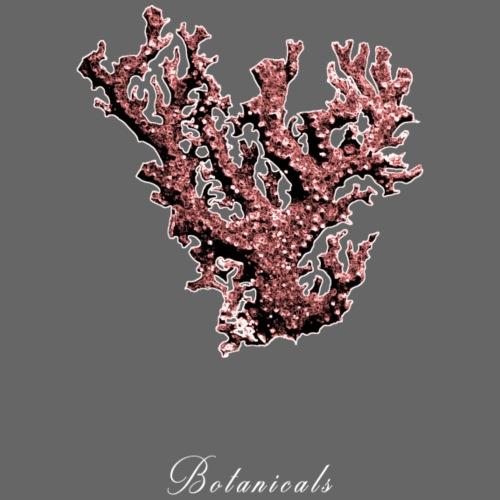 Disegno pianta corallo - Felpa con cappuccio premium da uomo