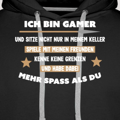 Ich bin Gamer - Männer Premium Hoodie