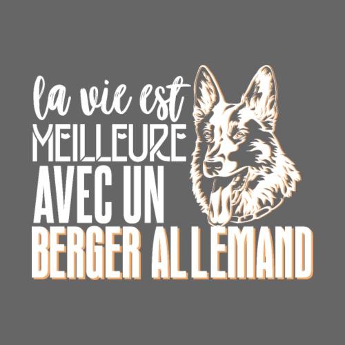La vie est meilleure avec un berger Allemand - Sweat-shirt à capuche Premium pour hommes
