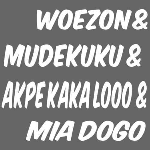 WOEZON MDEKUKU AKPE MIA DOGO - Sweat-shirt à capuche Premium pour hommes