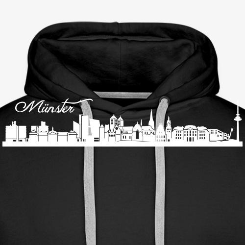 Münsteraner Skyline - Männer Premium Hoodie