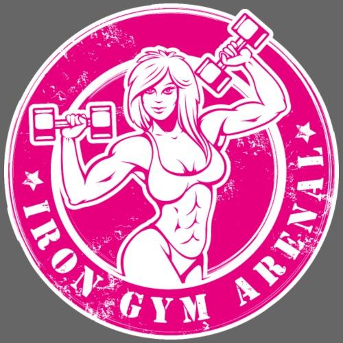 iron girl pink - Sudadera con capucha premium para hombre
