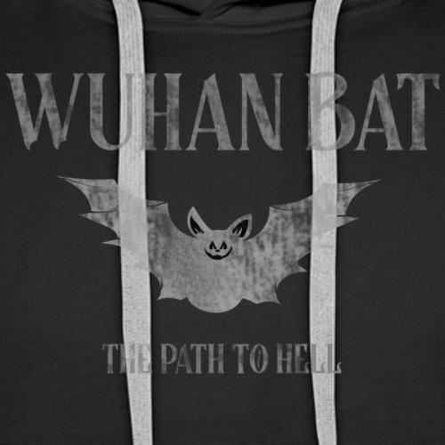 Wuhan bat design - Mannen Premium hoodie