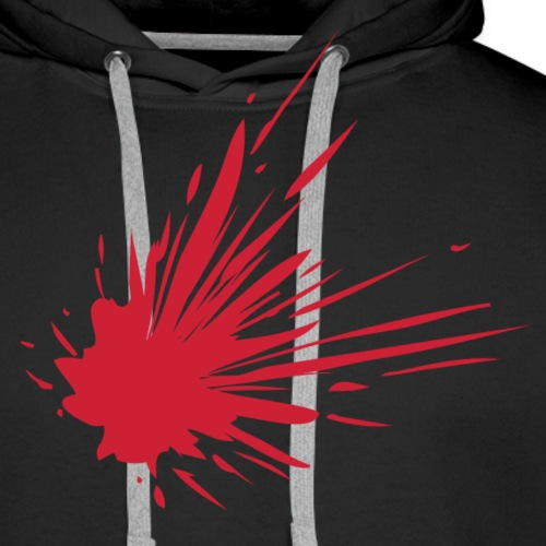 Blodsplat - Herre Premium hættetrøje