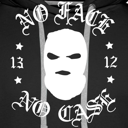 No Face, No Case - Skimask - valkoinen printti - Miesten premium-huppari