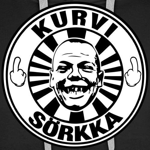 Kurvi - Sörkka - mustavalko - Miesten premium-huppari