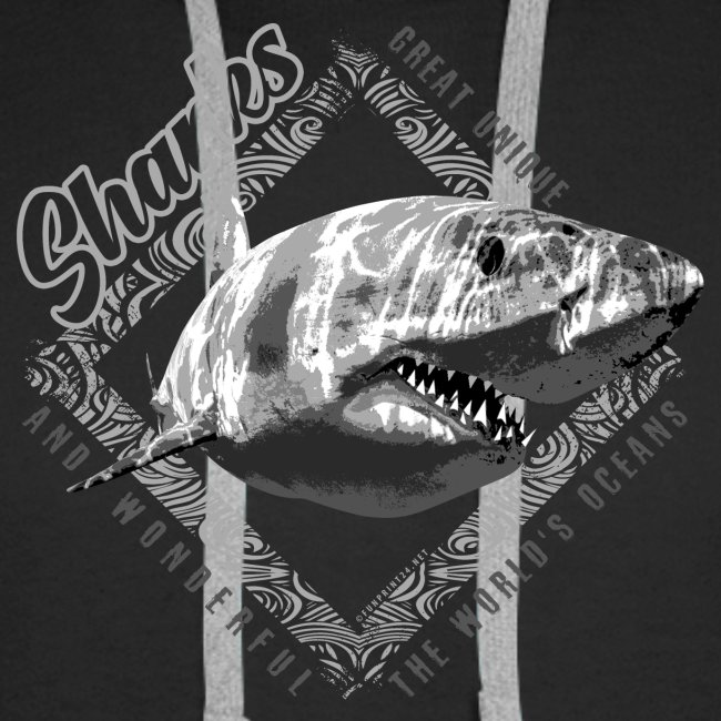 White Shark Cool Sea lovers Textiles, Gift ideas