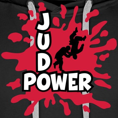 JudoPower Logo Klecks - Männer Premium Hoodie