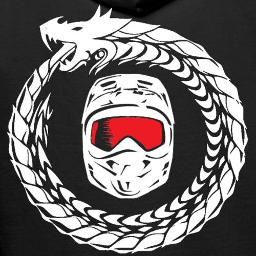 Schrift + Logo weiß - Männer Premium Hoodie