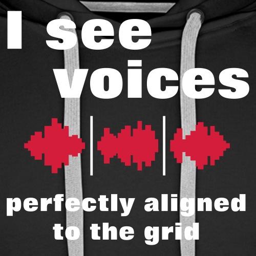 I See Voices - Men's Premium Hoodie