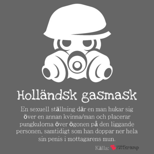 Holländsk gasmask - Premiumluvtröja herr