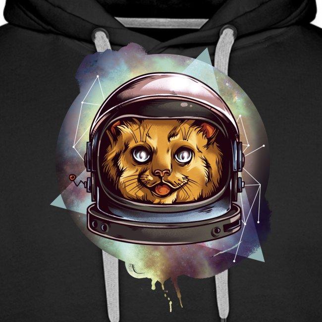 Cute astronaut kitten