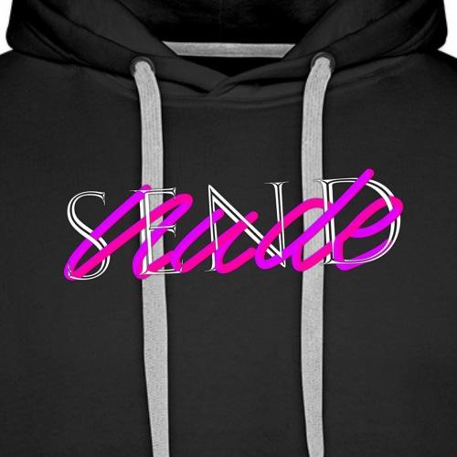 SEND NUDE - Sweat-shirt à capuche Premium pour hommes
